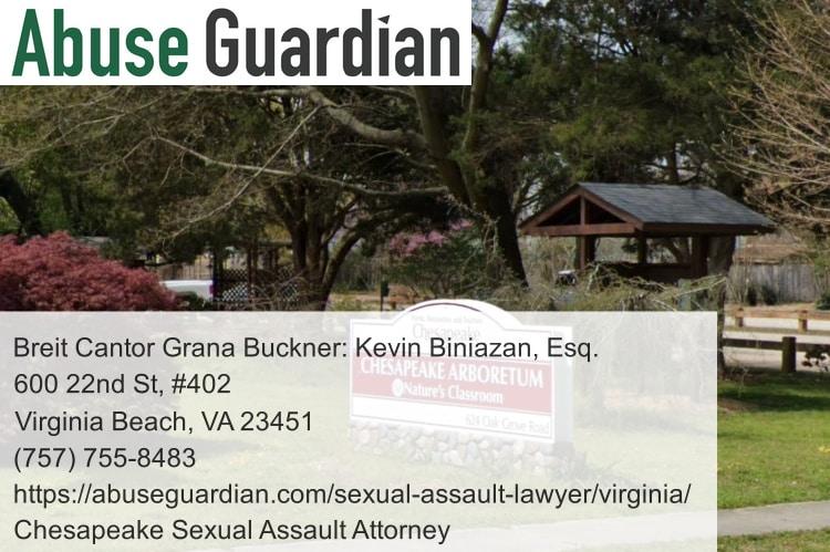 chesapeake sexual assault attorney near chesapeake arboretum