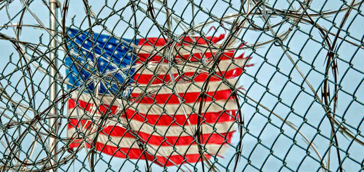 Prison Fence With Razor Wire
