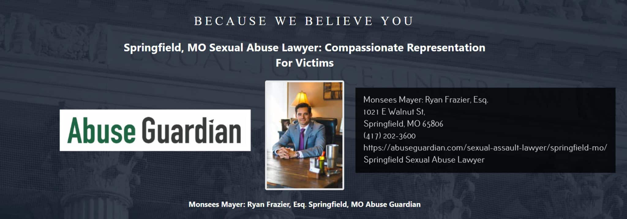sexual abuse lawyer springfield monsees mayer ryan frazier, esq.
